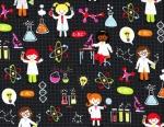 Girl Science Fabric