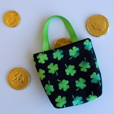 Watercolor Shamrocks Bag