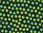 Watercolor Shamrocks Fabric