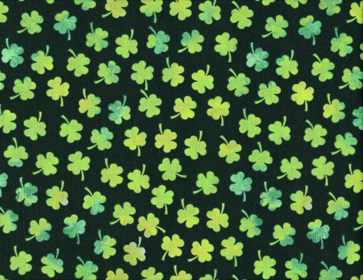 Watercolor Shamrocks Fabric