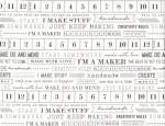 Maker I'm a Maker Fabric