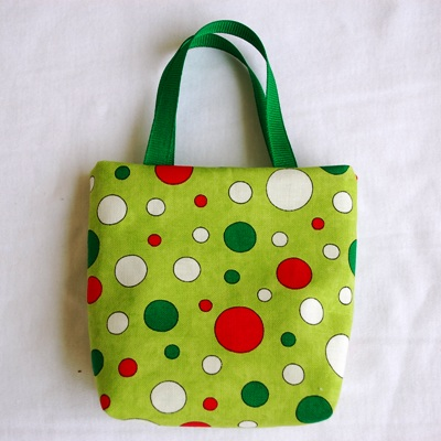 Red White and Green Polka Dots