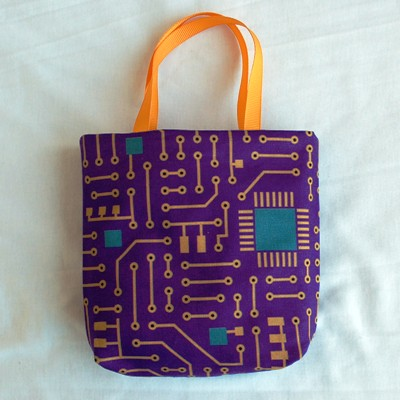 Circuit Board on Purple