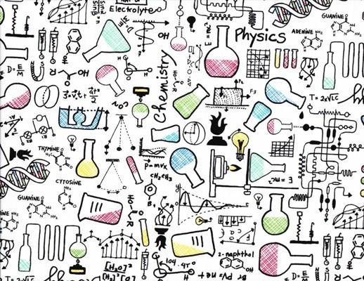 Timeless Treasures Chemistry White