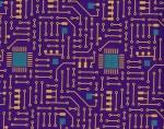 Circuit Board Purple