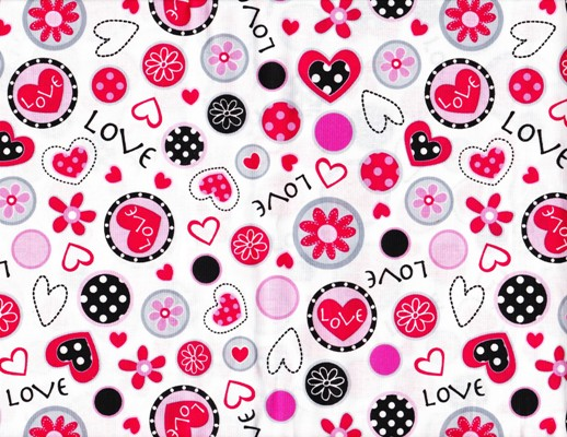 Marcus Fabrics So Sweet Love Collage