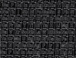Riley Blake Periodic Table Black