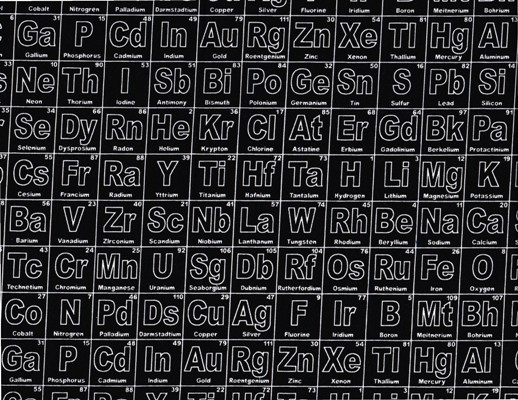 Riley Blake Periodic Table Black