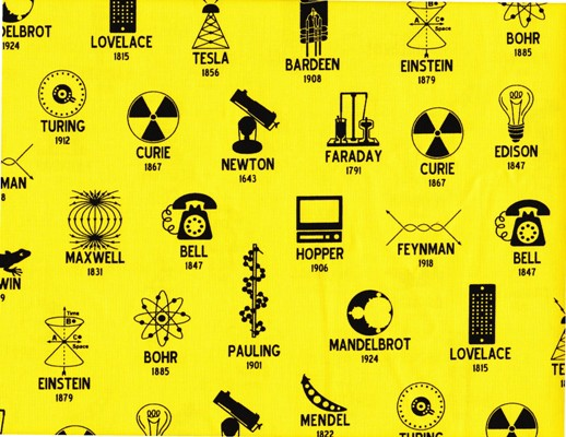 Robert Kaufman Science Fair 2 Scientists on Yellow