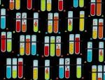 Robert Kaufman Science Fair 2 Test Tubes Multi
