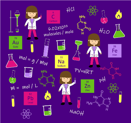 Chemistry Fabric by Zinnia's Closet