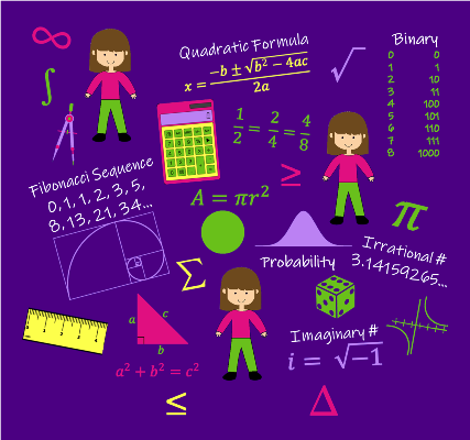 Math Fabric by Zinnia's Closet